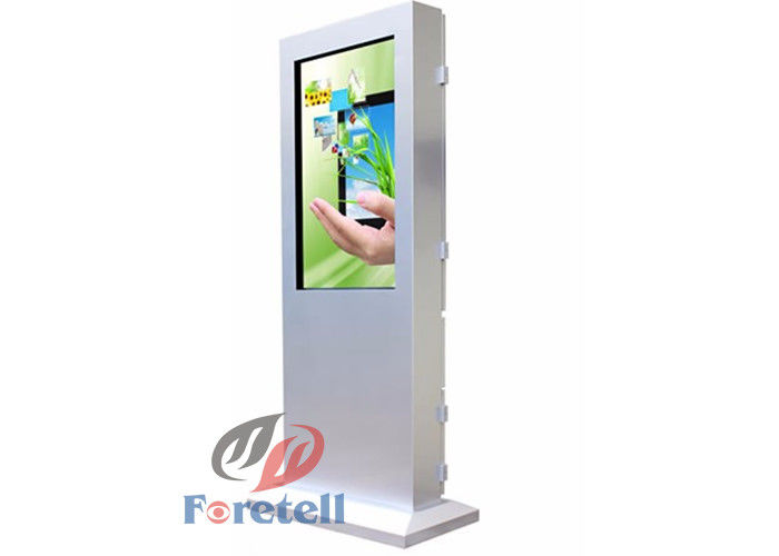 Outdoor Digital Advertising Screens Free Standing Digital Signage For Churches