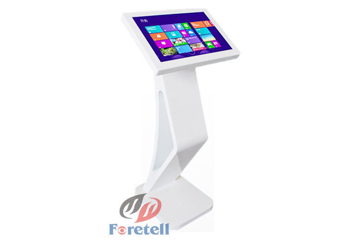 Stand Alone Digital Signage Touchscreen Kiosk , Industrial Touch Screen Monitor Custom Color